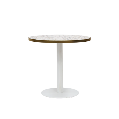 CAFE_TABLE_KIT_ROUND_WHITE_BRASS TRIM_TERRAZZO TOP